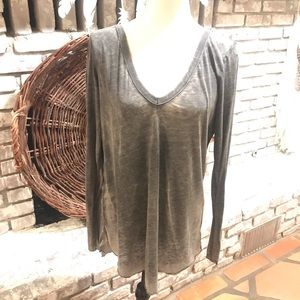Burnout open back tee